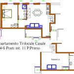 appartamento trilocale conero