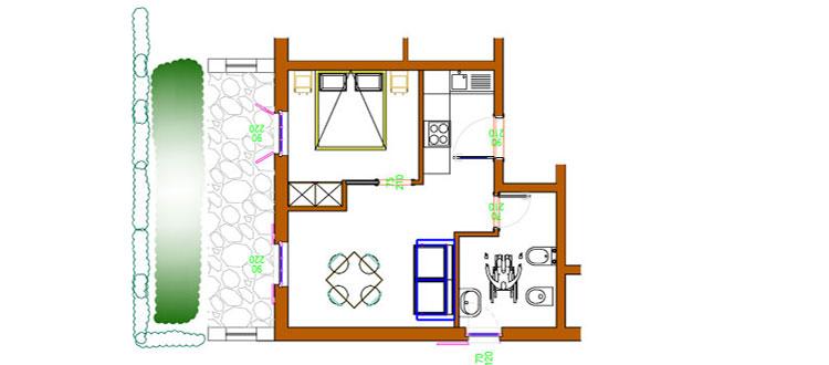 appartamento bilocale fienile