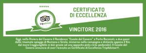 certificato di eccellenza Conero